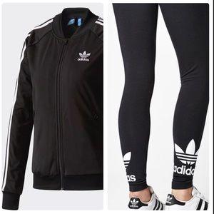 Adidas jacket and matching leggings set
